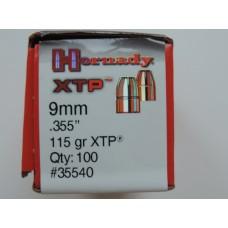 Hornady 9mm .355  115 gr XTP Экспансивные пули