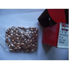 Hornady XTP Bullets 9x18mm (9mm Makarov) (365 Diameter) 95 Grain XTP Jacketed Hollow Point  экспансивные 9х18 ПМ