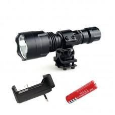 Ultra Fire Сверхъяркий аккумуляторный  фонарь полный набор с креплением на оружие